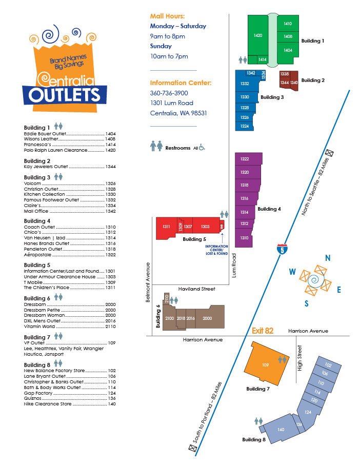 Centralia Outlets Map
